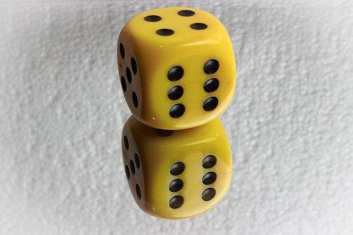 Dice, Gambling, Game, Number, Cube, Mirror