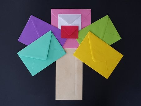Envelopes, Color, Office Supplies, Write Letters, Inbox