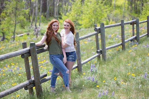 Nature, Outdoors, Summer, Grass, Outside, Girl, Woman