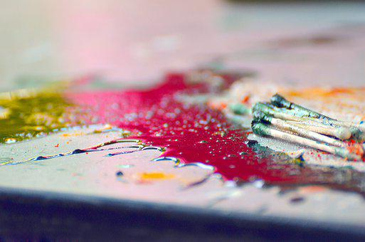 Color, Food, Palette, Closeup, Mix, Art, Painter