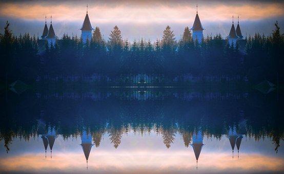 Lake, Sunrise, Dawn, Dusk, Panoramic, Evening, Fog