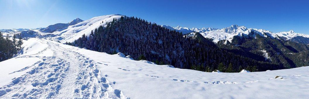 Snow, Winter, Panoramic, Mountain, Nistos