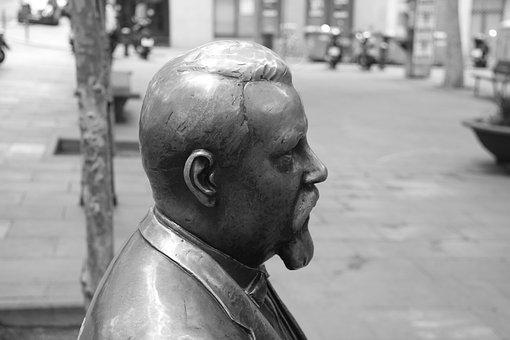 Statue, Rovira I Trias, People, Adult, One, Male