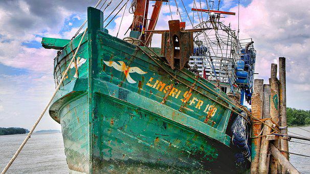 Fishing, Trawler, Boat, Port, Harbour, Industry