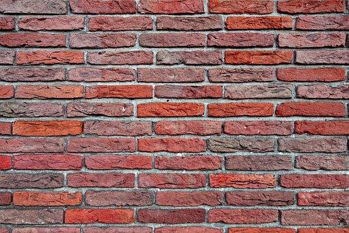 Brick Wall, Red Brick Wall, Masonry, Seam, Mortar