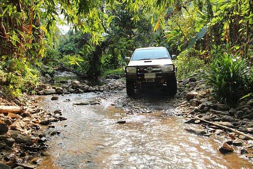 Nature, Brook, River, The Creek, Vehicle