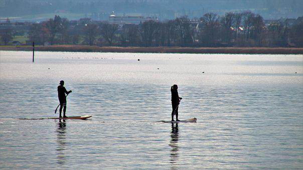 Water, Para, Sport, Glow, Lake, At The Court Of