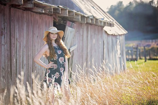 Summer, Outdoors, Nature, People, Grass, Field, Barn