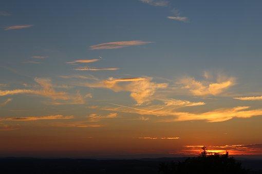 Sunset, Sun, Sky, Dusk, Evening Sky, Abendstimmung