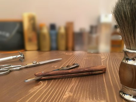 Wood, Table, Barbershop, Tools, Barber