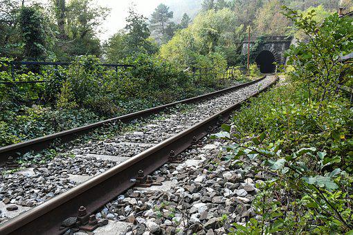 Railway Line, Railway, Train, Transport System