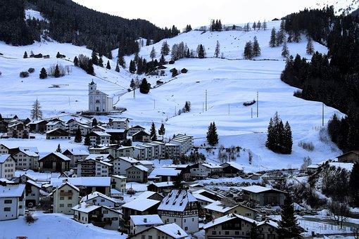 Snow, Winter, Mountains, The Alps, Cold, The Horizon