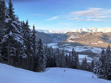 Mountains, Ski, Snow, Winter Sports, Skier, Skiing Area