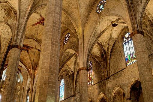 Barcelona, Catalonia, Church, Cathedral, Architecture