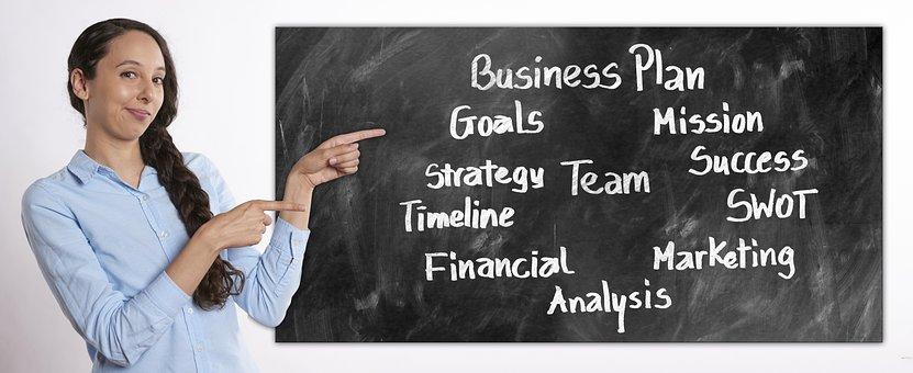 Business, Businesswoman, Board, Presentation, Dynamic