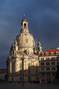 Dresden, Church, Frauenkirche, Architecture, Travel