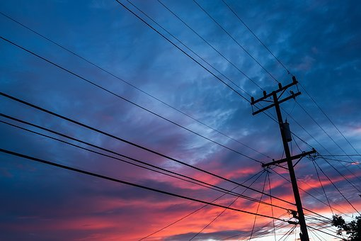 Electricity, Wire, Voltage, Power, Energy, Sky