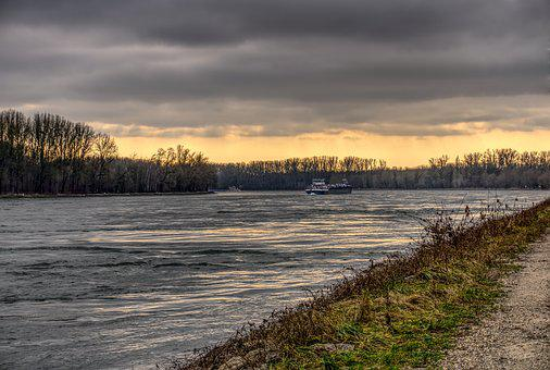 Shipping, Ship, Rhine, Drive, Frachtschiff, Freighter
