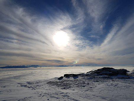 Sunset, Dusk, Mountains, Fog, Sea Of Fog, Sun, Clouds