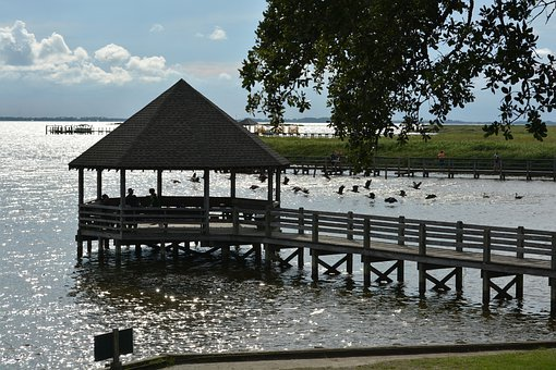 Water, Wood, Lake, Outdoors, Wooden, Nature, Sky, Pier