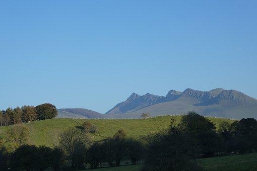 Mountain, Panoramic, Landscape, Nature, Sky