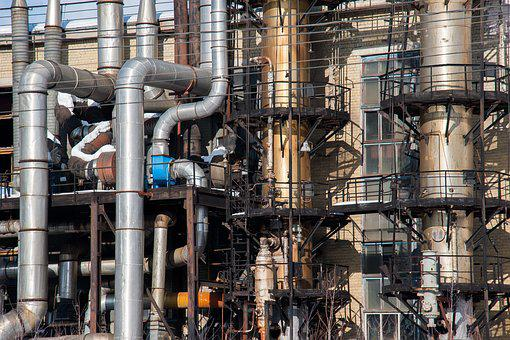 Industry, Mill, Trumpet, Chemical, Pollution, Refinery