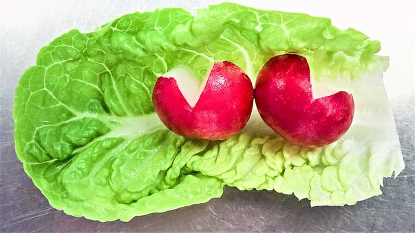 Salad, Radishes, Raw Food, Vegetables, Green Salad Leaf
