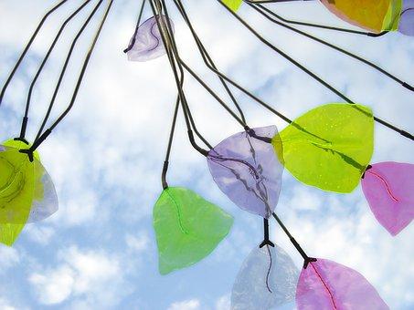 San Diego, Hand Blown Art, Wind, Mobile, Leaf, Nature