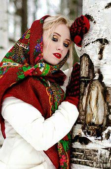 Traditional, Scarf, Winter, Woman, Costume, People
