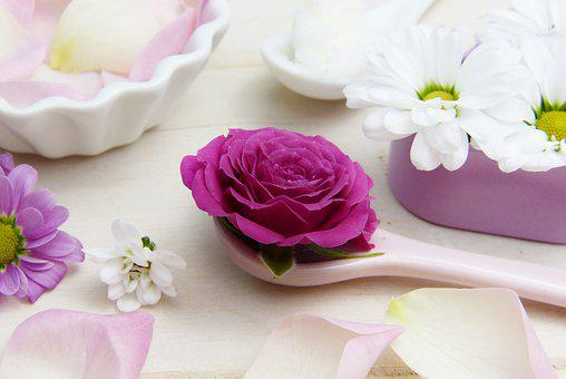 Rose, Pink, Spoon, Shea Butter, Cosmetics, Skin Care