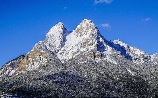 Nature, Mountain, Sky, Panoramic, Landscape, Snow