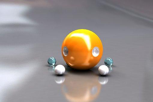 3d Modeling, Bright, Sphere, 3d