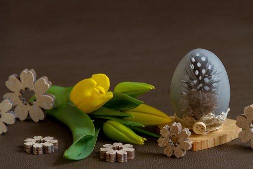 Easter, Flower, Easter Egg, Egg, Tulip, Nature, Yellow
