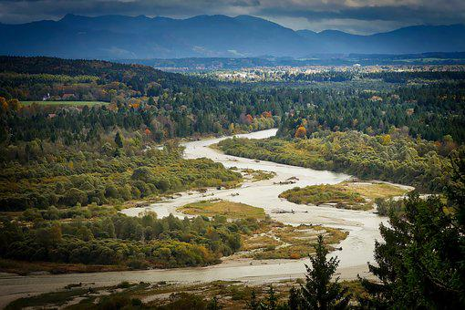 Waters, Nature, Landscape, Travel, Panorama, Isar