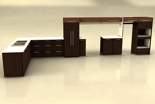 Kitchen Furniture, Contemporary, Wood, Vacuum