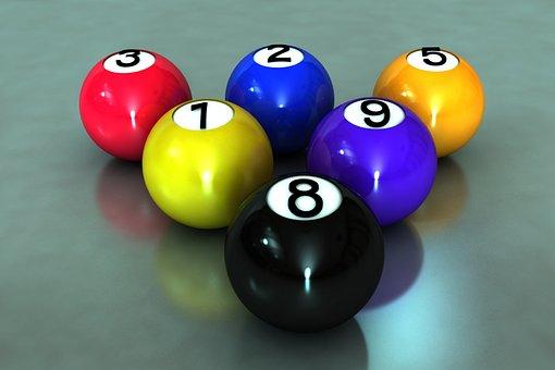 Balls, Billiards, 3d