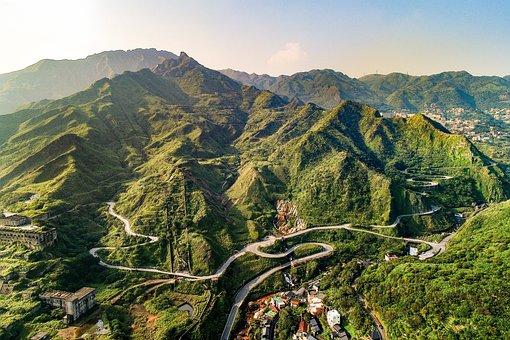 Mountain, Nature, Tourism, Landscape, A Bird's Eye View