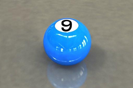 9-ball, Billiards, Game, 3d