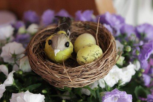 Basket, Nest, Nature, Easter, Bird's Nest, Craft Idea