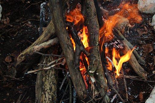 Flare-up, Heat, Firewood, Campfire, Burn