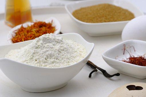 Bake, Cook, Spices, Flour, Saffron, Zucher, Cane Sugar