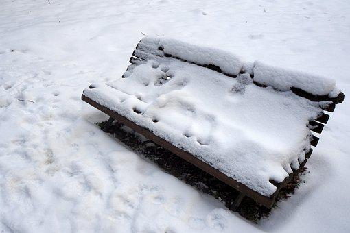 Bench, Winter, Snow, Country, Park, Ice, Icing