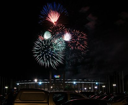 Festival, Fireworks, Pyronale, Olympic Stadium, Berlin