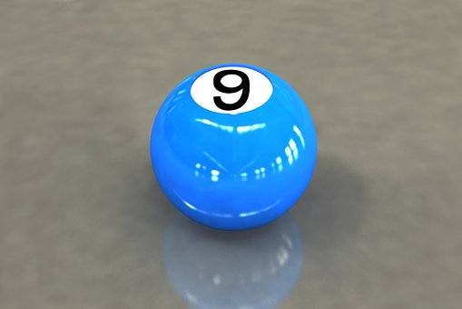 9-ball, Billiards, Game, 3d