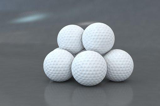 Golf, Ball, 3d