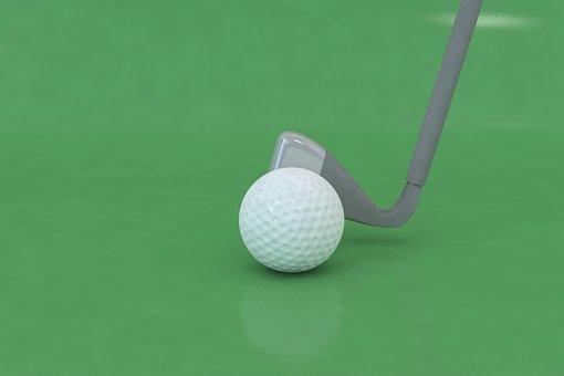 Golf, Ball, Golfer, 3d Modeling
