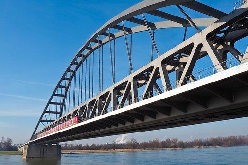 Architecture, Bridge, Building, Metal Frame, River