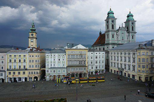 Linz, City, Church, Architecture, Old Town, Monument
