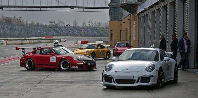 Auto, Porsche, Lausitzring, Race Track, Motorsport