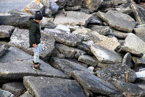 Child, Spacer, Stone, Rock, The Risk Of